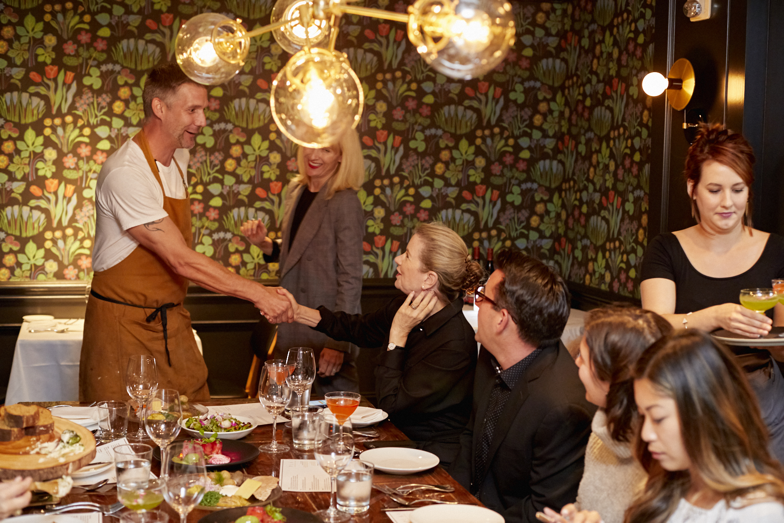Chef Roberth Sundell of Plaj Restaurant greeting guests at our media and blogger dinner.