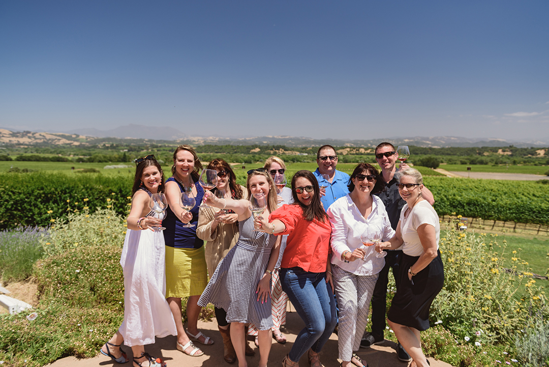Cheers to an afternoon with Bucher Wines at their Russian River, Bucher Vineyards. We hosted media and bloggers for this fun day together in Healdsburg!