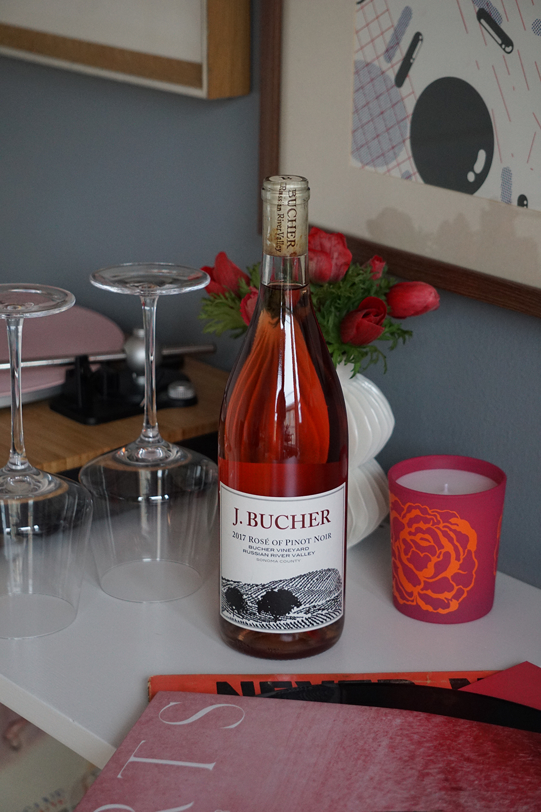 THE KOSMOPOLIMAN:^ Me, Myself, and Wine: Self-Care and Bucher Rosé for Valentine's Day