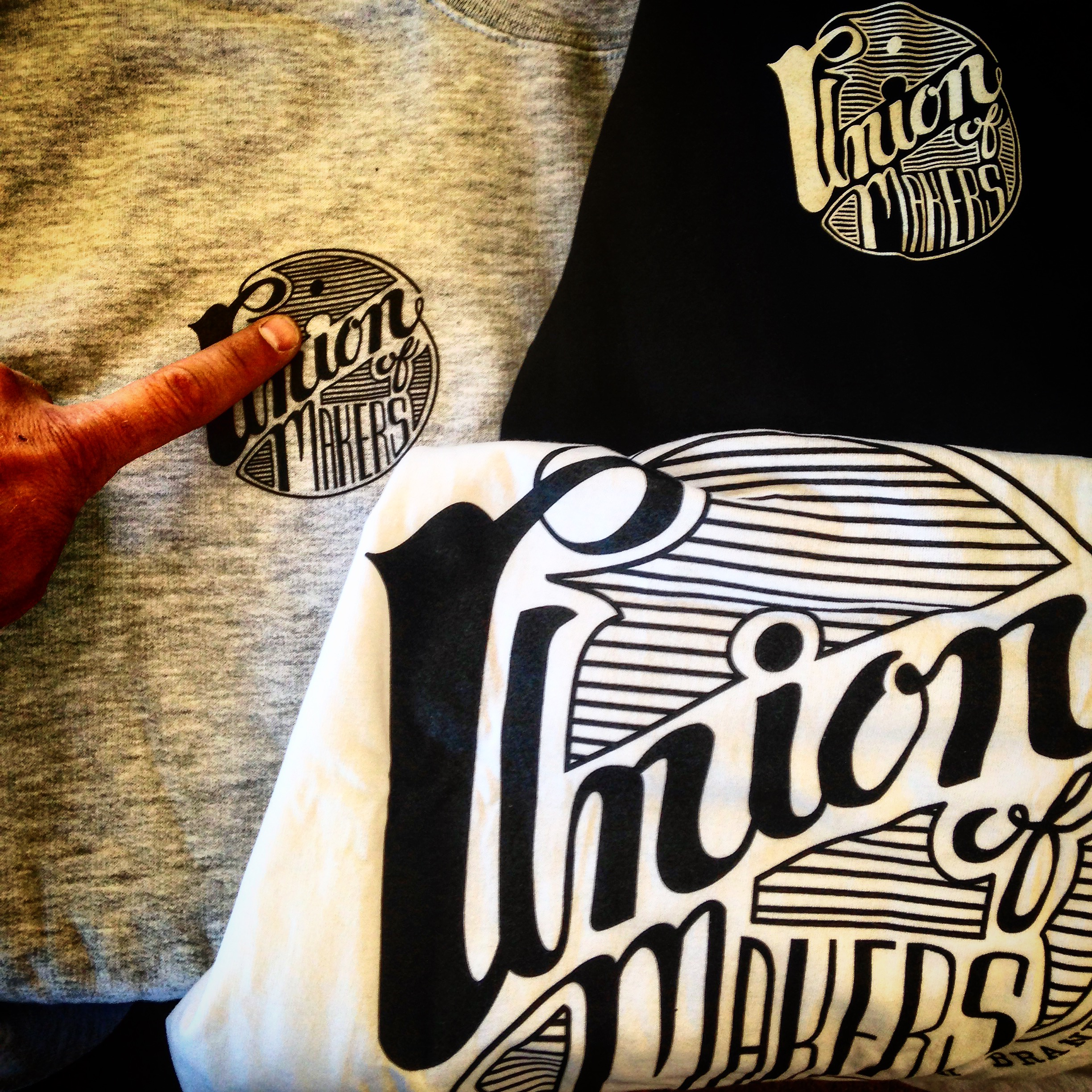 "Union Of Makers limited edition ""There's perfect ""i"" in our union"" quick-strike of t's/hood/crews available 9/9"