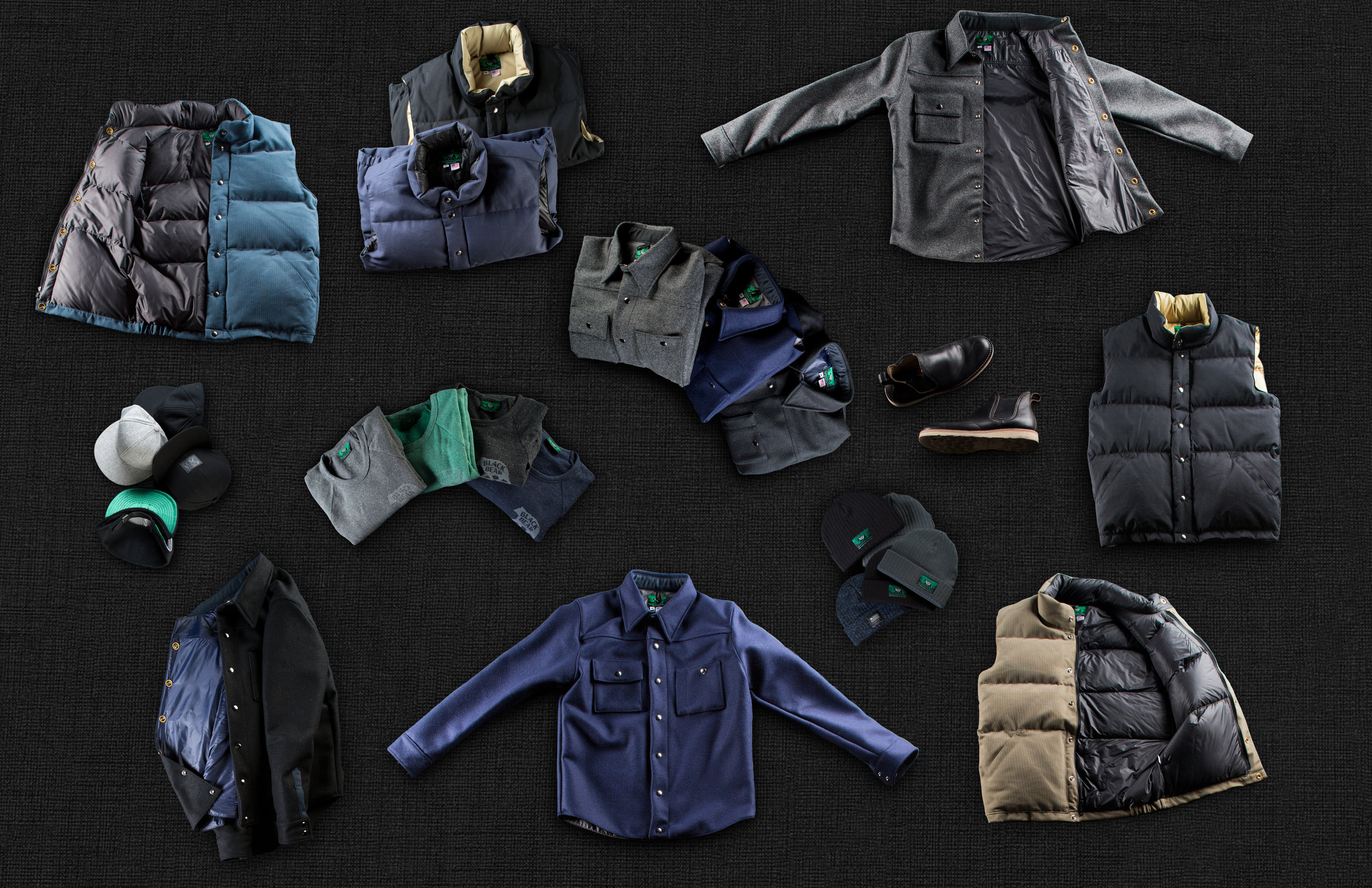 Black Bear Brand Wool And Down Collection