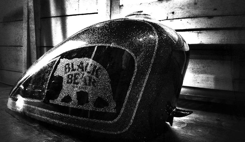 Black Bear Brand metal flake with Ryan at Kustom Finishes