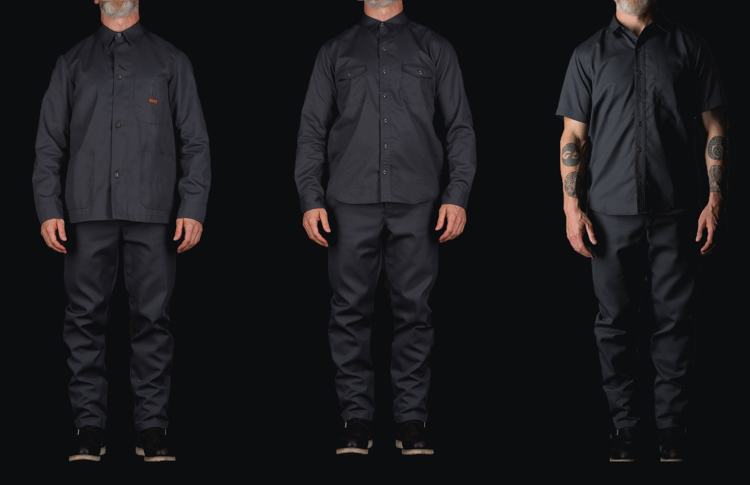 Black Bear Brand collaboration with Dickies 1922 in Stone Grey