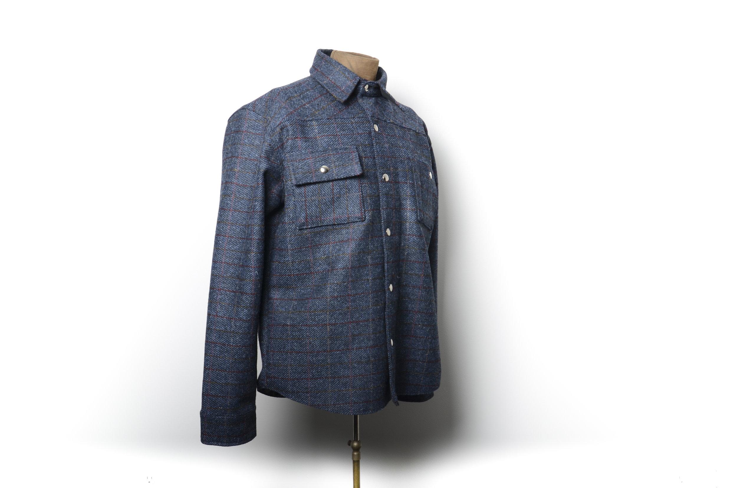 Black Bear Brand shirt jacket in Harris Tweed