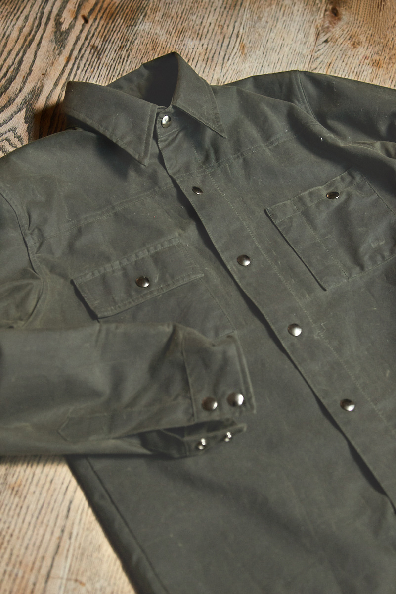 Black Bear Brand's wax-canvas jacket