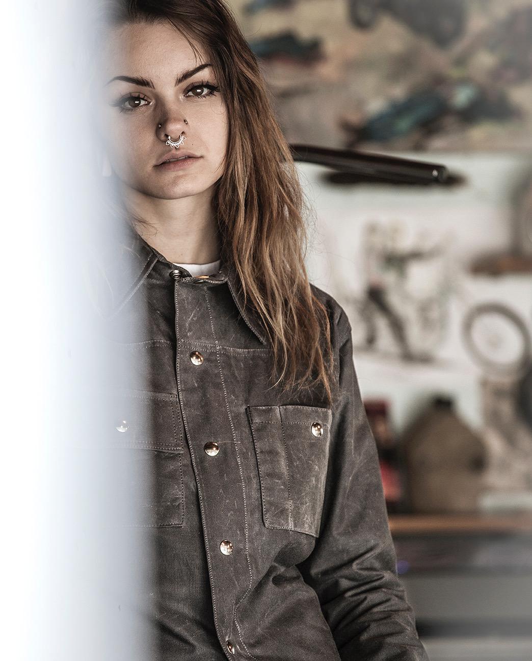 Black Bear Brand Grey Wax Canvas Shirt Jacket