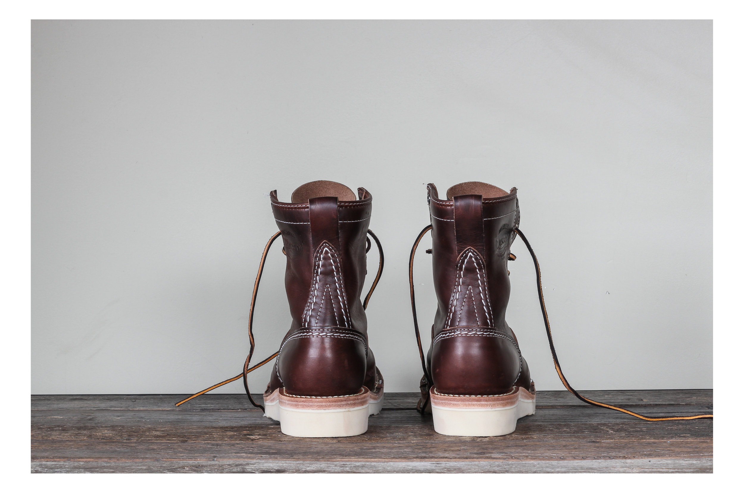 Black Bear Brand horsehide Jobmaster in collaboration with Wesco Boot Co.