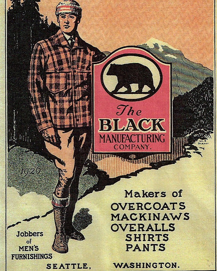 Black Bear Brand, Seattle Wash. Advertisement 1930