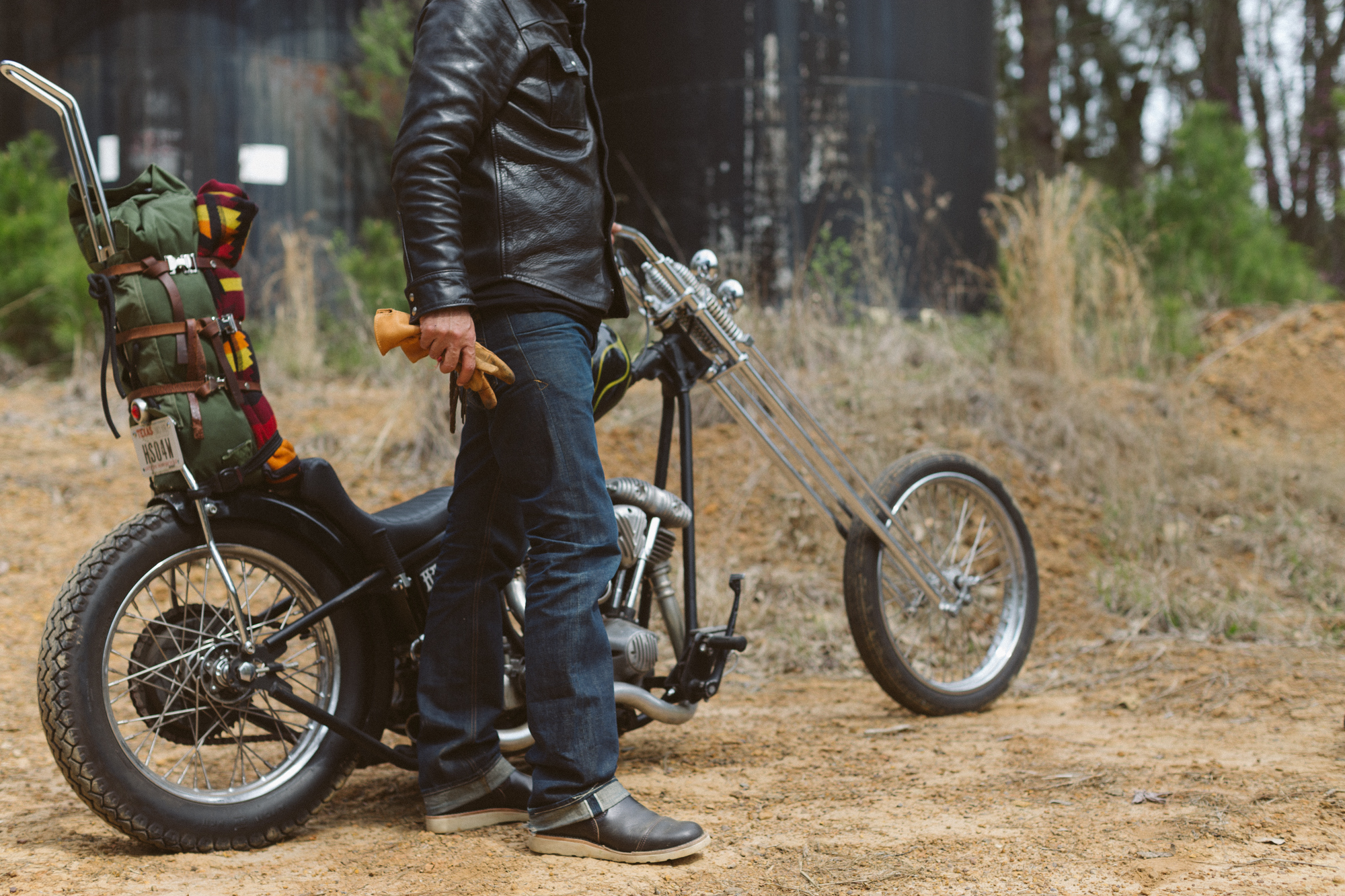 Black Bear Brand  horsehide and choppers
