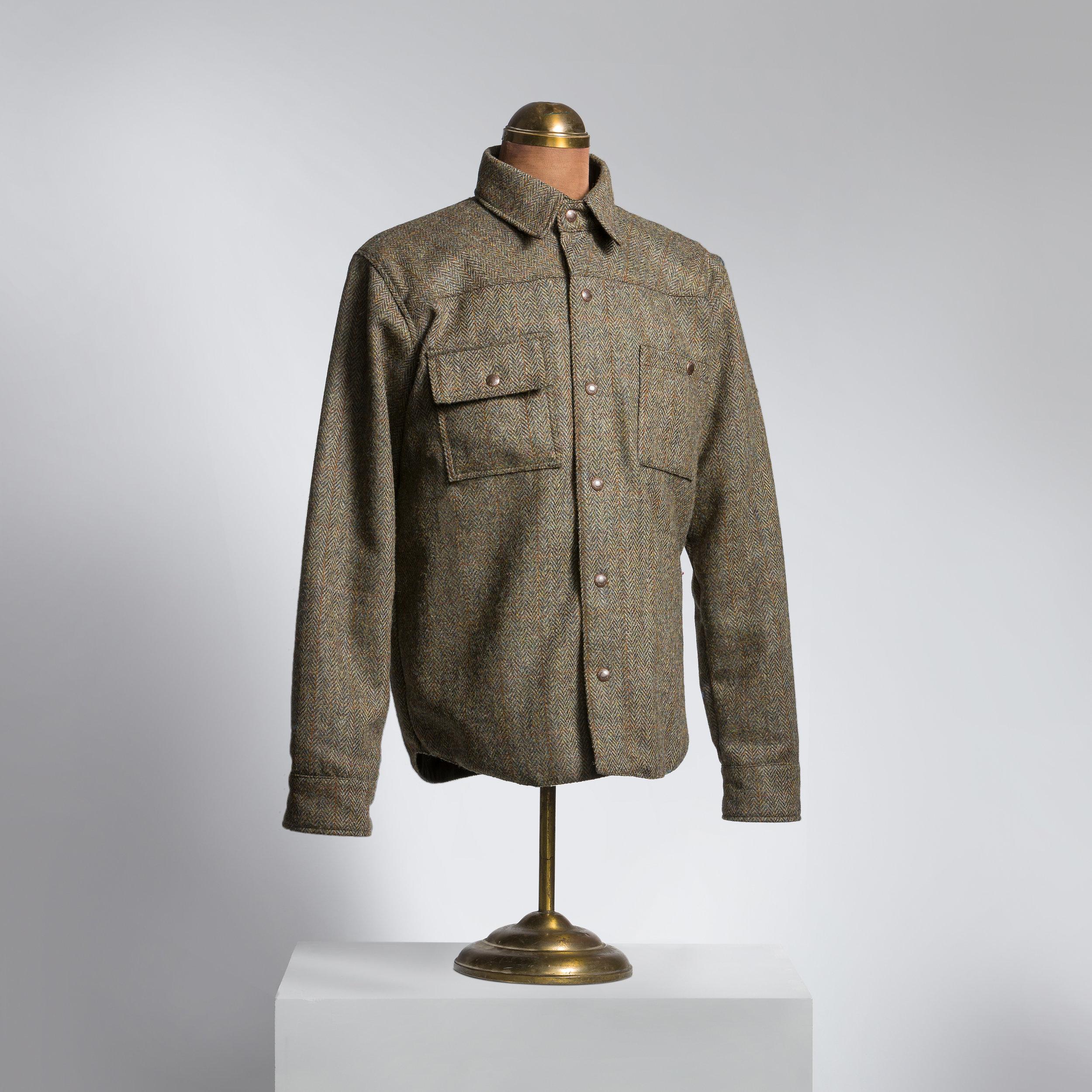 Herringbone Harris Tweed Shirt/Jacket