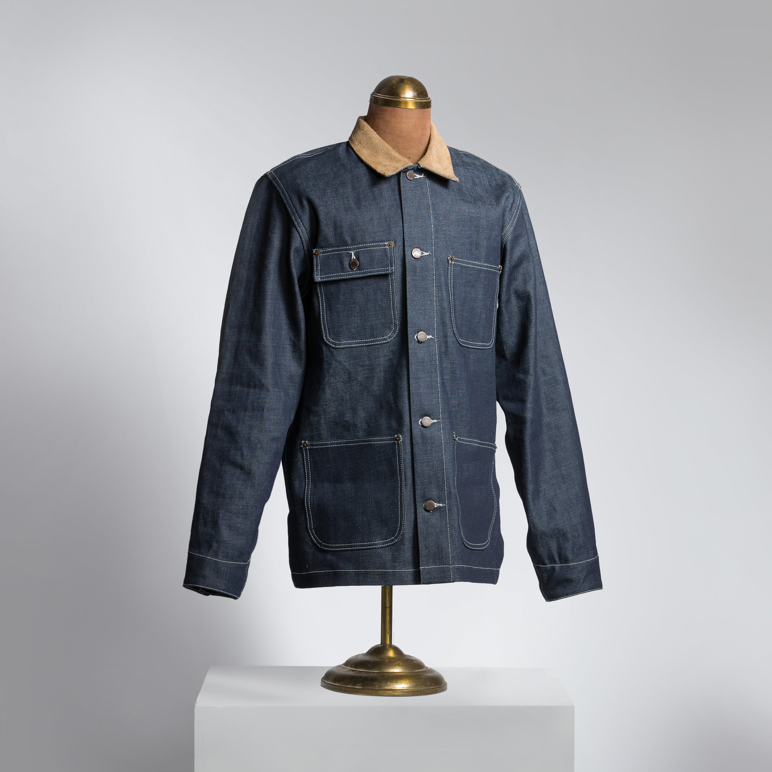 Denim with Horween Rough-Out ORION Collar Chore/Jacket