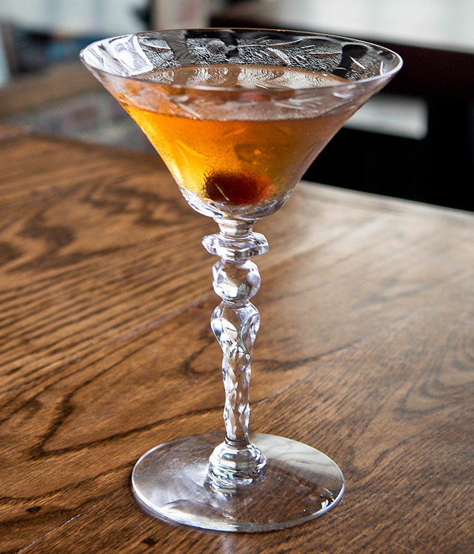 A blood and sand cocktail in a cocktail glass.jpg