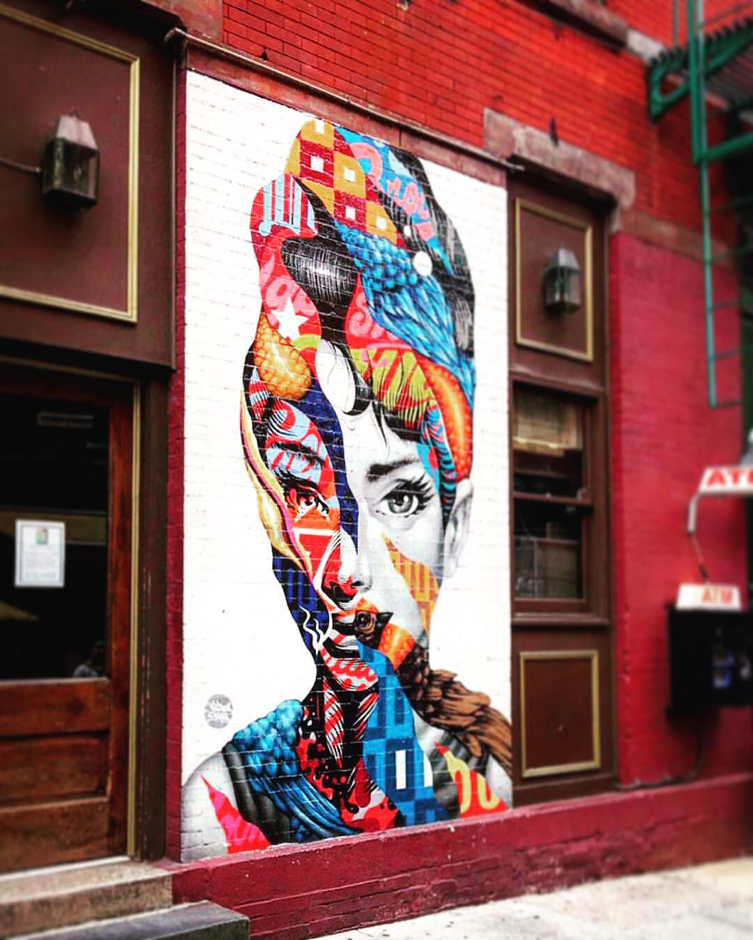 When did Audrey get so hipster? 💋 #streetart (at Little Italy in NYC)