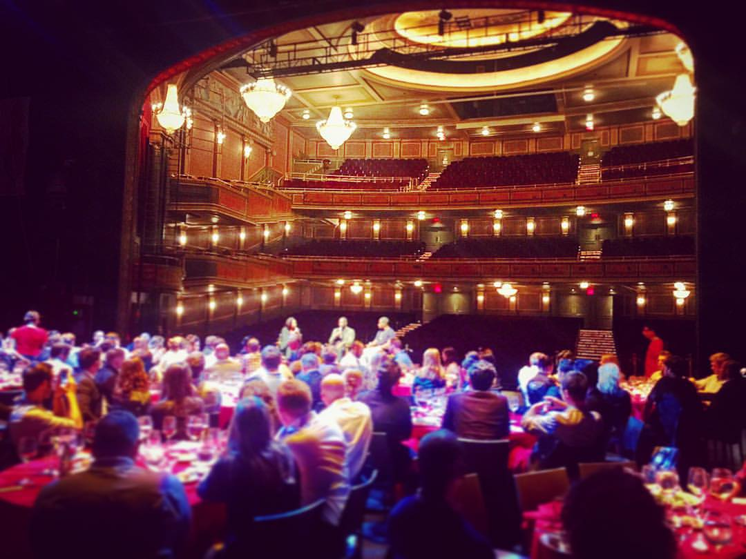 Just threw together a last minute dinner on a Broadway stage… Just like ordering seamless… 🎩🎉  #awxii  @espn  (at Lyric Theatre)