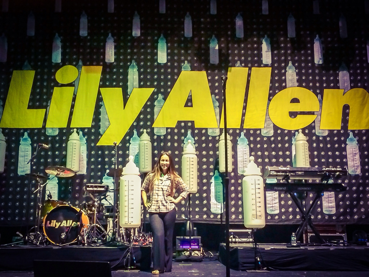 Couldn't resist a photo on this stage during a site walk-thru at Terminal 5 a few weeks ago! #lilyallen
