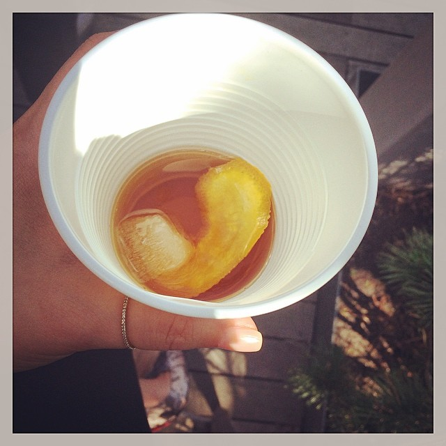 Old Fashioned in a Solo Cup yesterday on the roof. 🍸👴👵🍸 #classy (at The Caledonia)