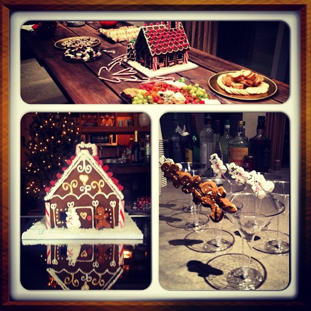 Gingerbread house is about to get in my belly 😳 #yum  #gingerbread #christmas #holidayparty
