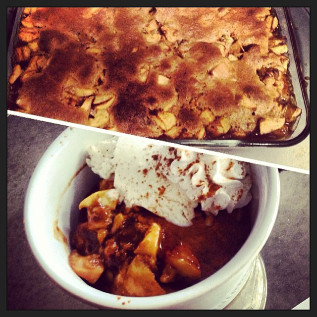 So proud of my Apple Cobbler! #lazysunday #lookwhatidid #yum #vegan #healthy        #SaigonCinnamon is ridiculously amazing.