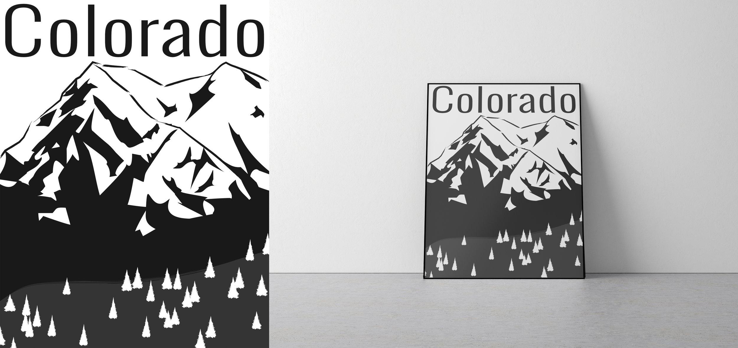 Colorado travel poster.