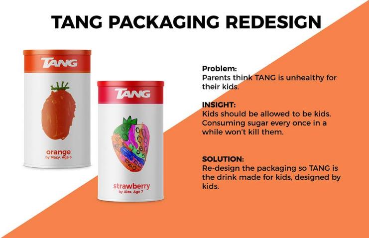 Children's illustration packaging design for Tang.