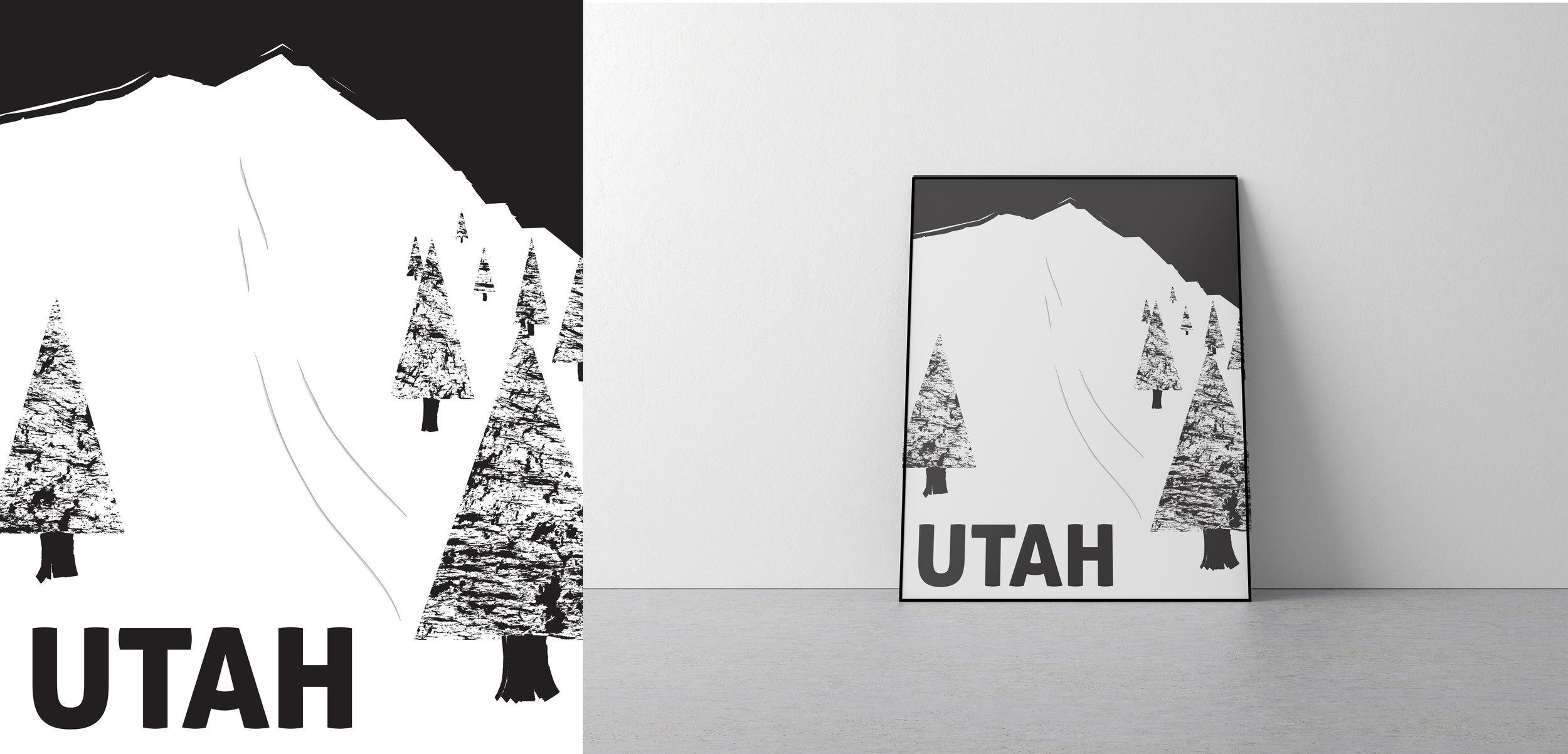 Utah travel poster.