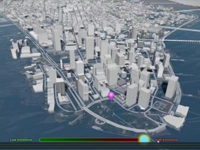 Montée des Mers   Montée des mers : l'expérience est une plateforme interactive en 3D qui permet aux utilisateurs de visualiser et de comprendre les effets réels de l'élévation du niveau de la mer sur des emplacements publics emblématiques en particulier.  À l'aide de grands écrans tactiles interactifs, les utilisateurs pourront modifier les niveaux d'émissions mondiaux et constater les conséquences de l'élévation du niveau de la mer sur l'emplacement où ils se trouvent. Ils pourront également explorer d'autres endroits en passant d'une vue de la terre, à celle d'une ville, puis d'une rue.   PLUS