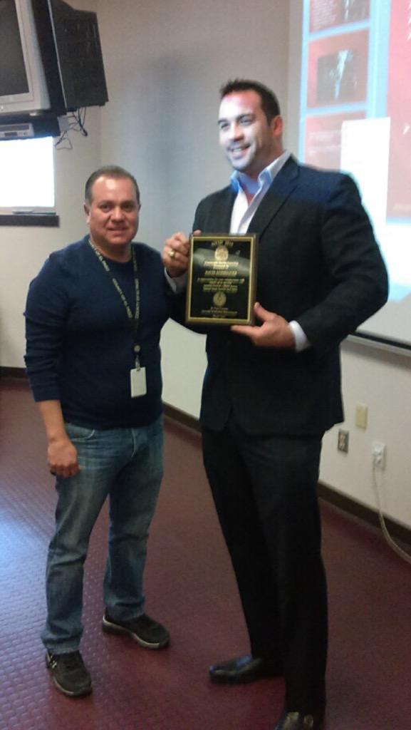 It was honor receiving this reward on behalf of the El Paso community. Muchas gracias!!