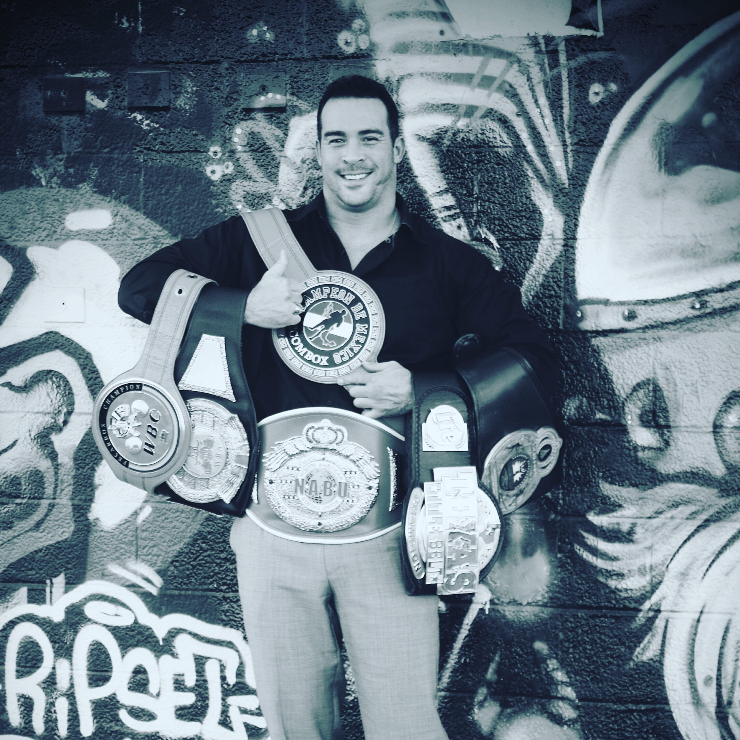 The Champ w/his belts