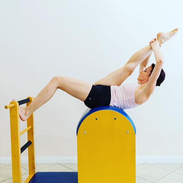 The Tree on the Ladder Barrel @enjoyingillusion #foreverstrong #gratzisbest #classicalpilates #longlines #stretchwithstrength #stretchwithstrengthandcontrol