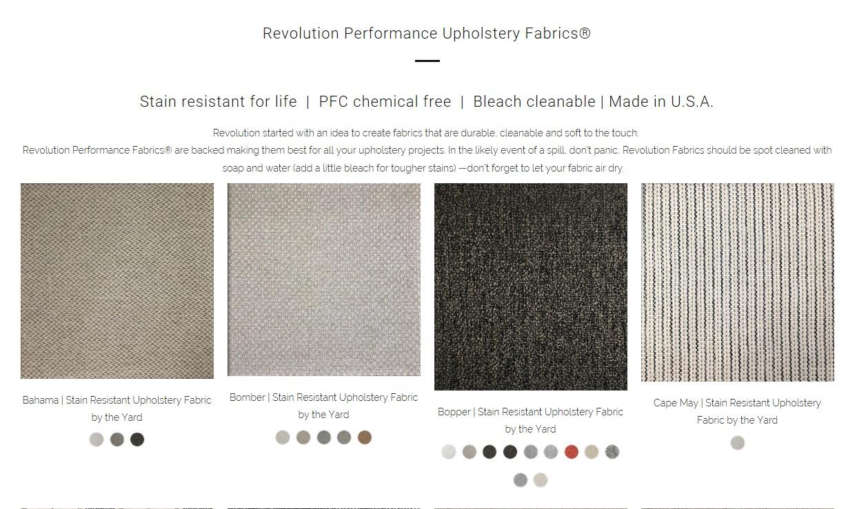 *Snapshot of revolutionfabricbytheyard.com