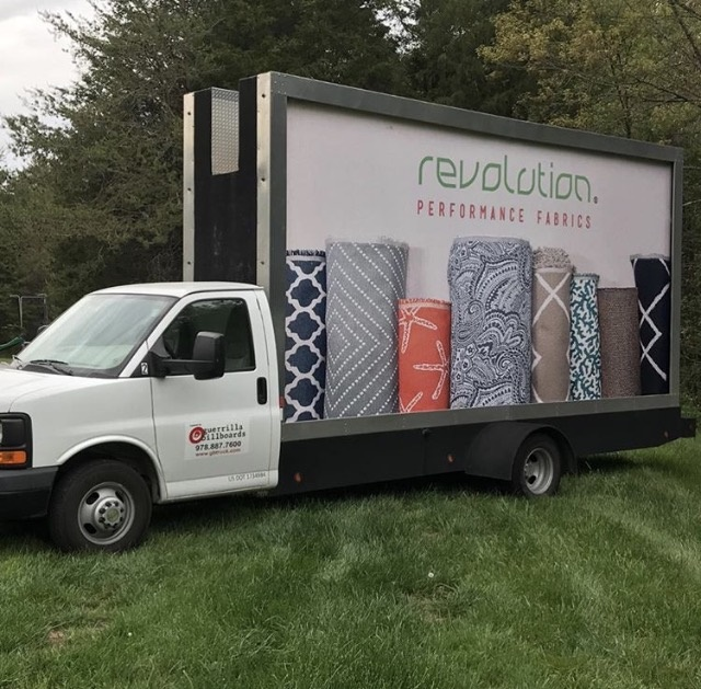 *The Revolution truck making its rounds at High Point market!