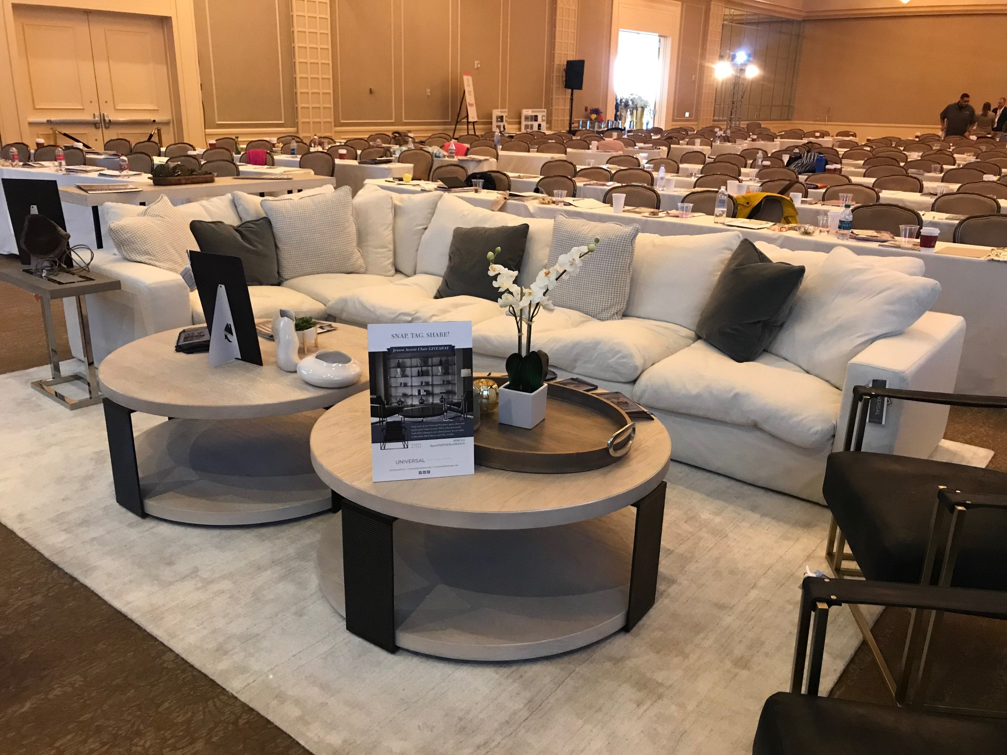 Universal Furniture, a valued Revolution customer, also sponsored at the DBC and used a Revolution sofa in their seating area!