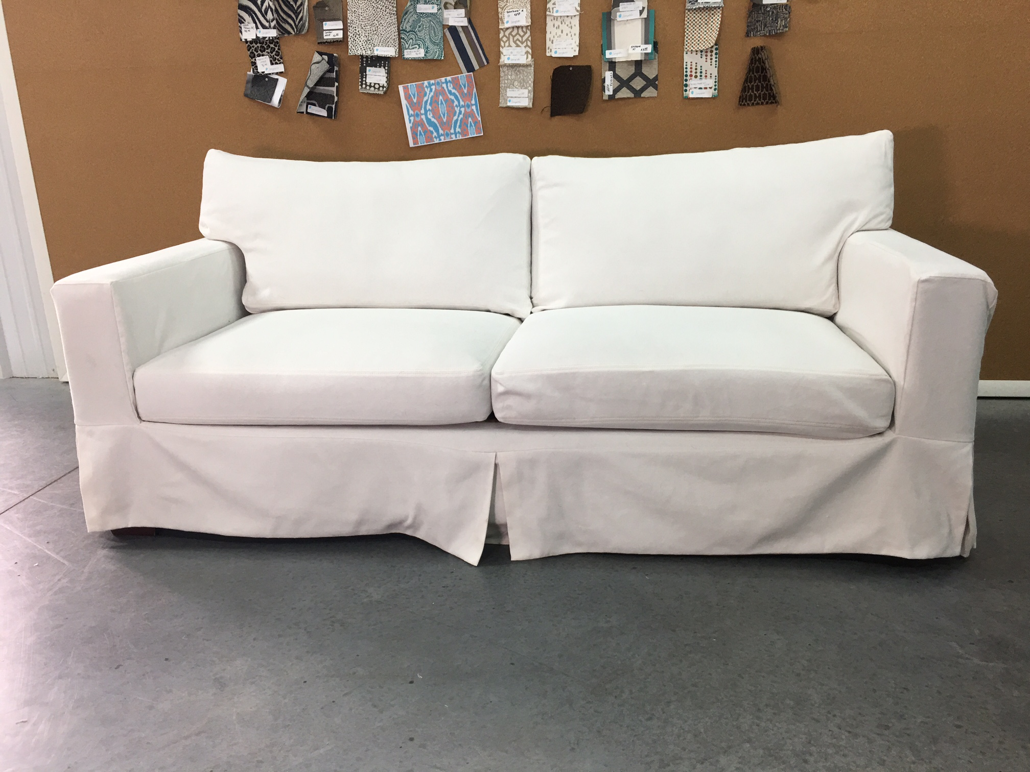 Above:   A slipcover made out of Revolution Plus pattern, Slipcover Twill White (shop this pattern  here )