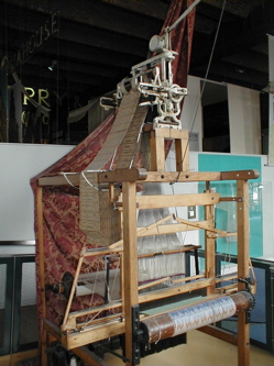 """Photo: One of the first """"real"""" jacquard looms created by Joseph Jacquard"""