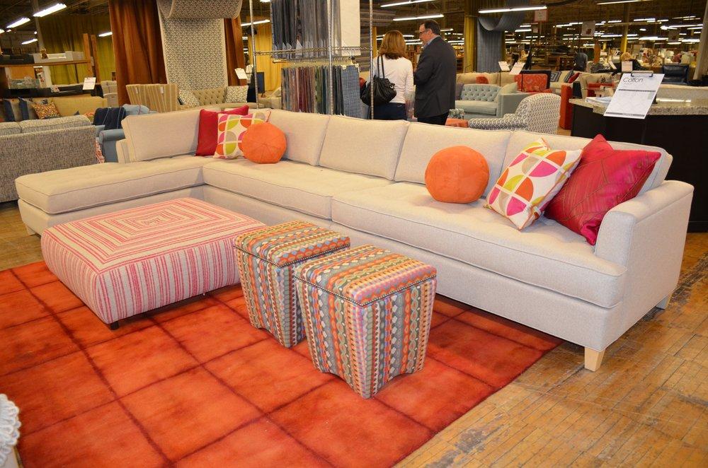 A Revolution sofa in Norwalk's High Point Showroom