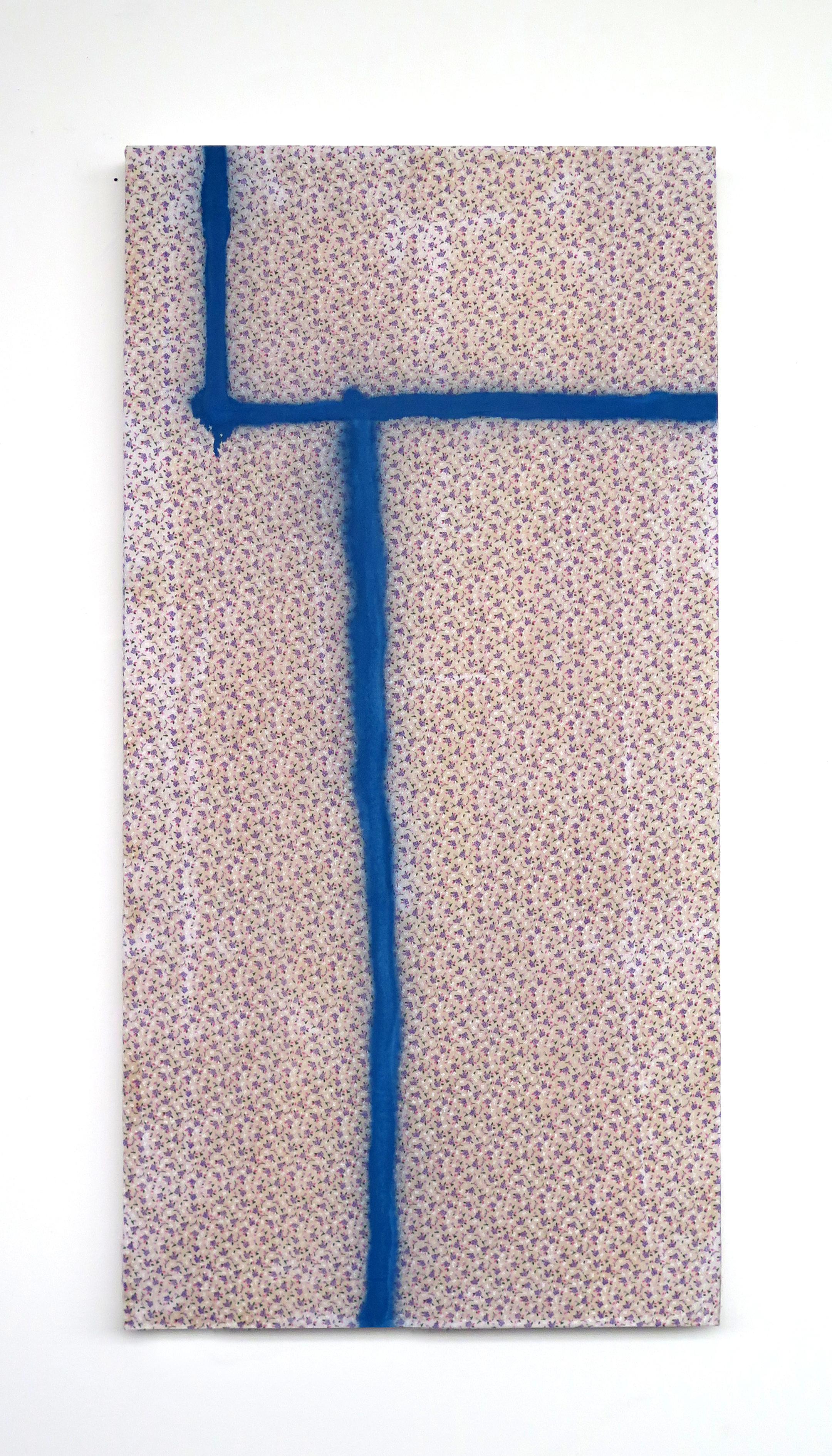 Blue spray, Floral fabric