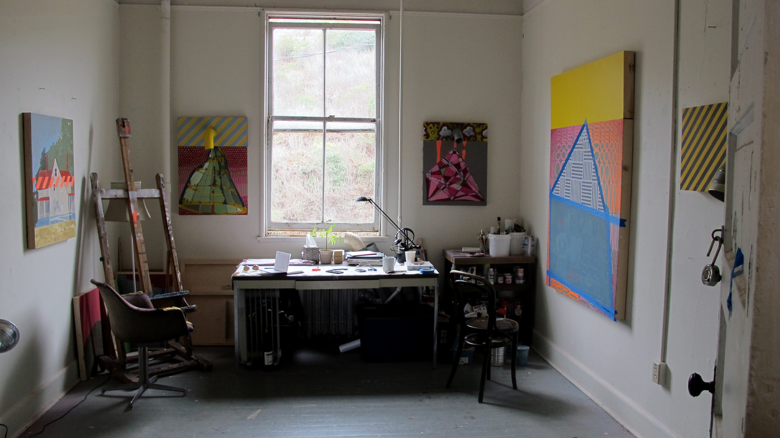 Studio in Headlands Center of the arts
