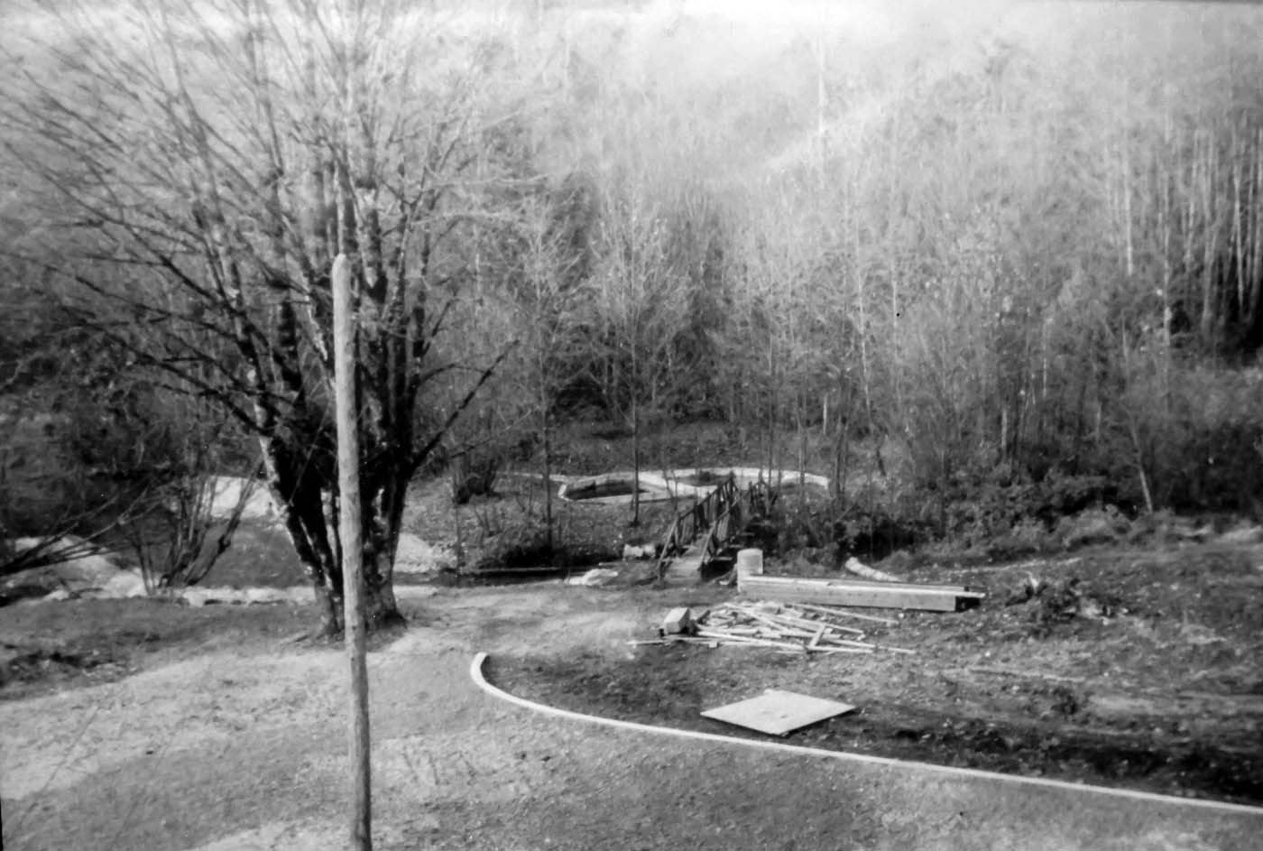 The area before the Hoy Creek Hatchery was built on the old Frederick Brewer property in Coquitlam