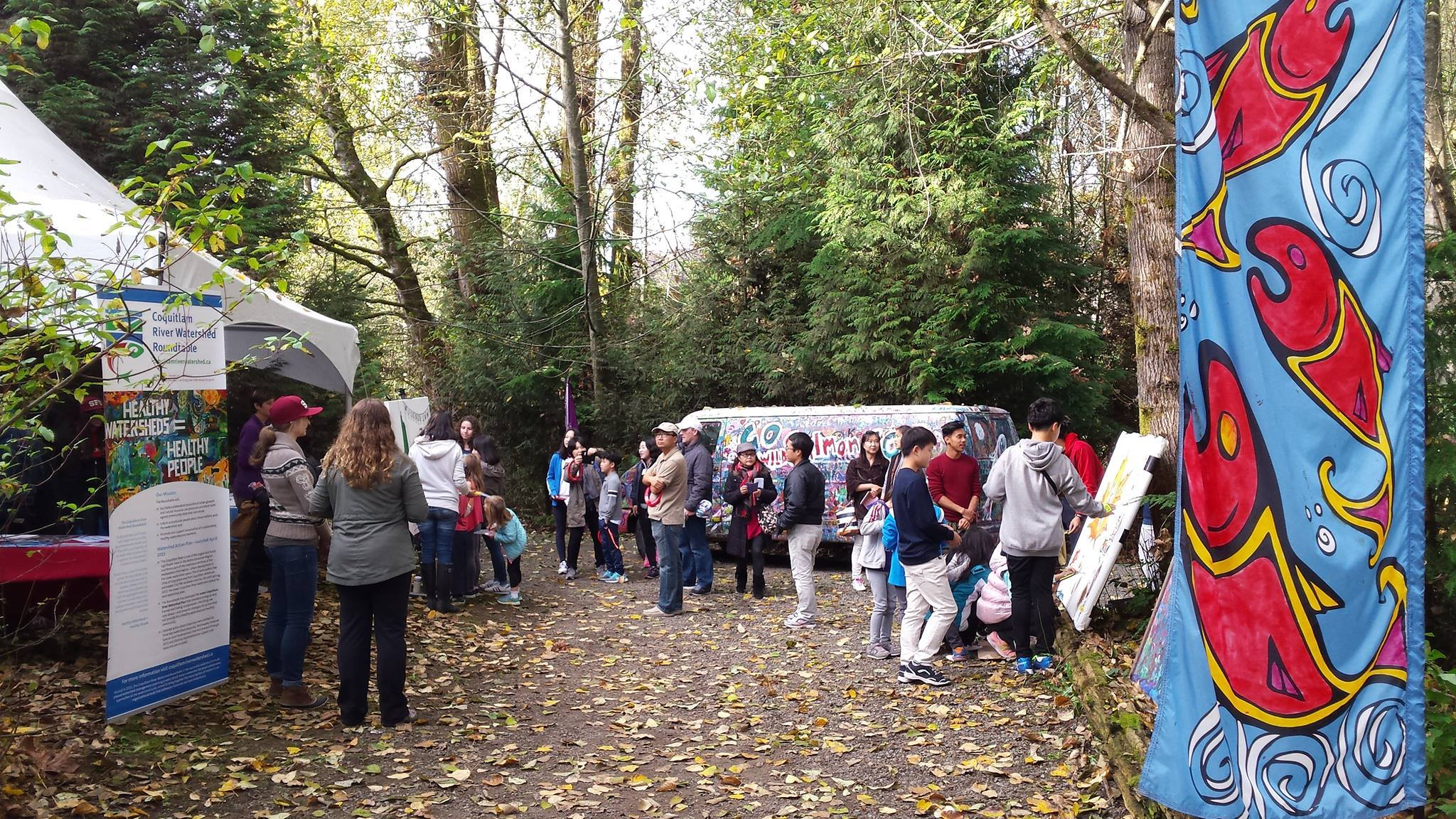 Approximately 2200 came through to enjoy SALMON COME HOME at Hoy Creek Hatchery on Hoy Trail
