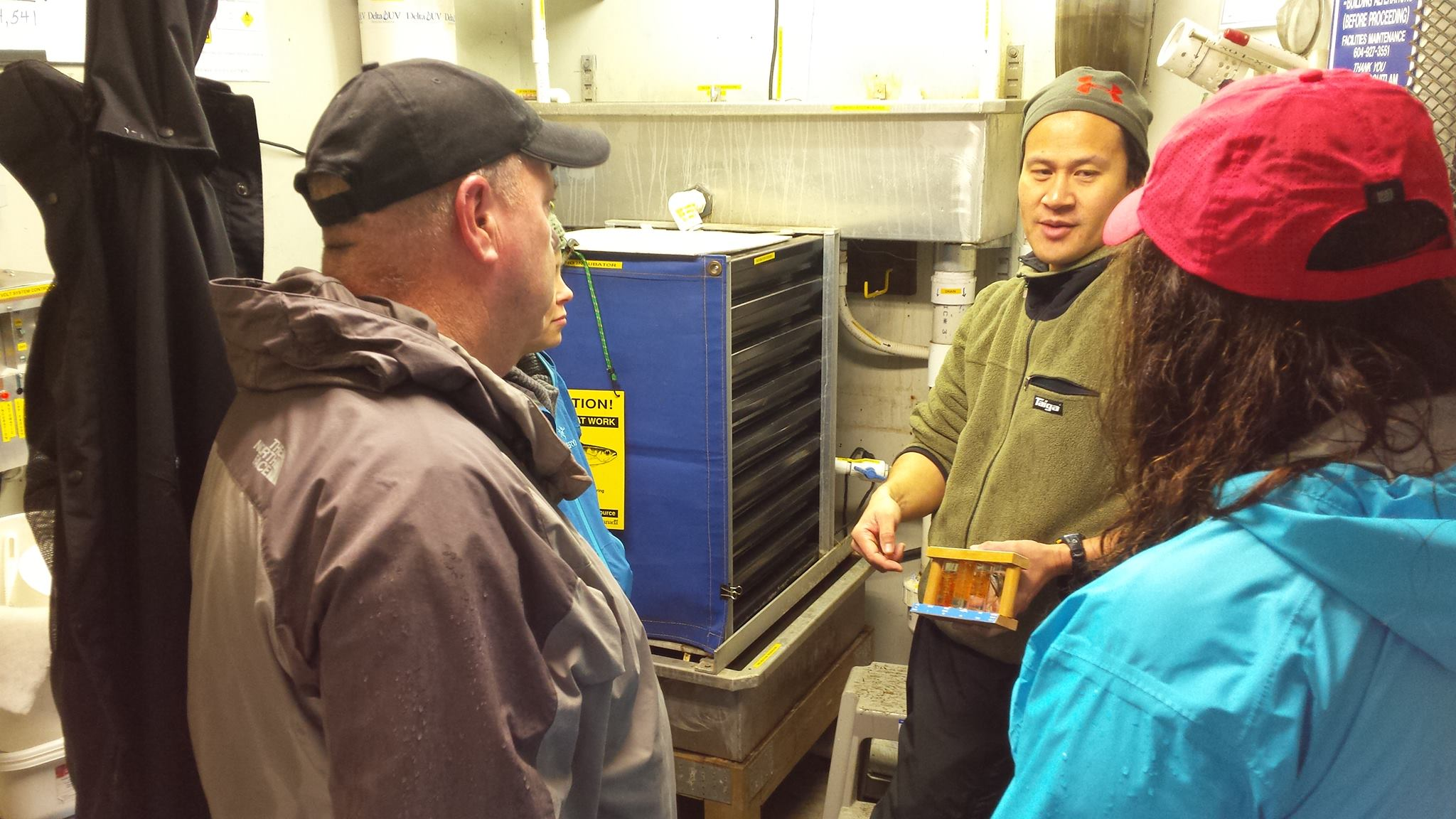 Hatchery manager Rodney Lee provides an orientation to new members on Saturday at our monthly open house