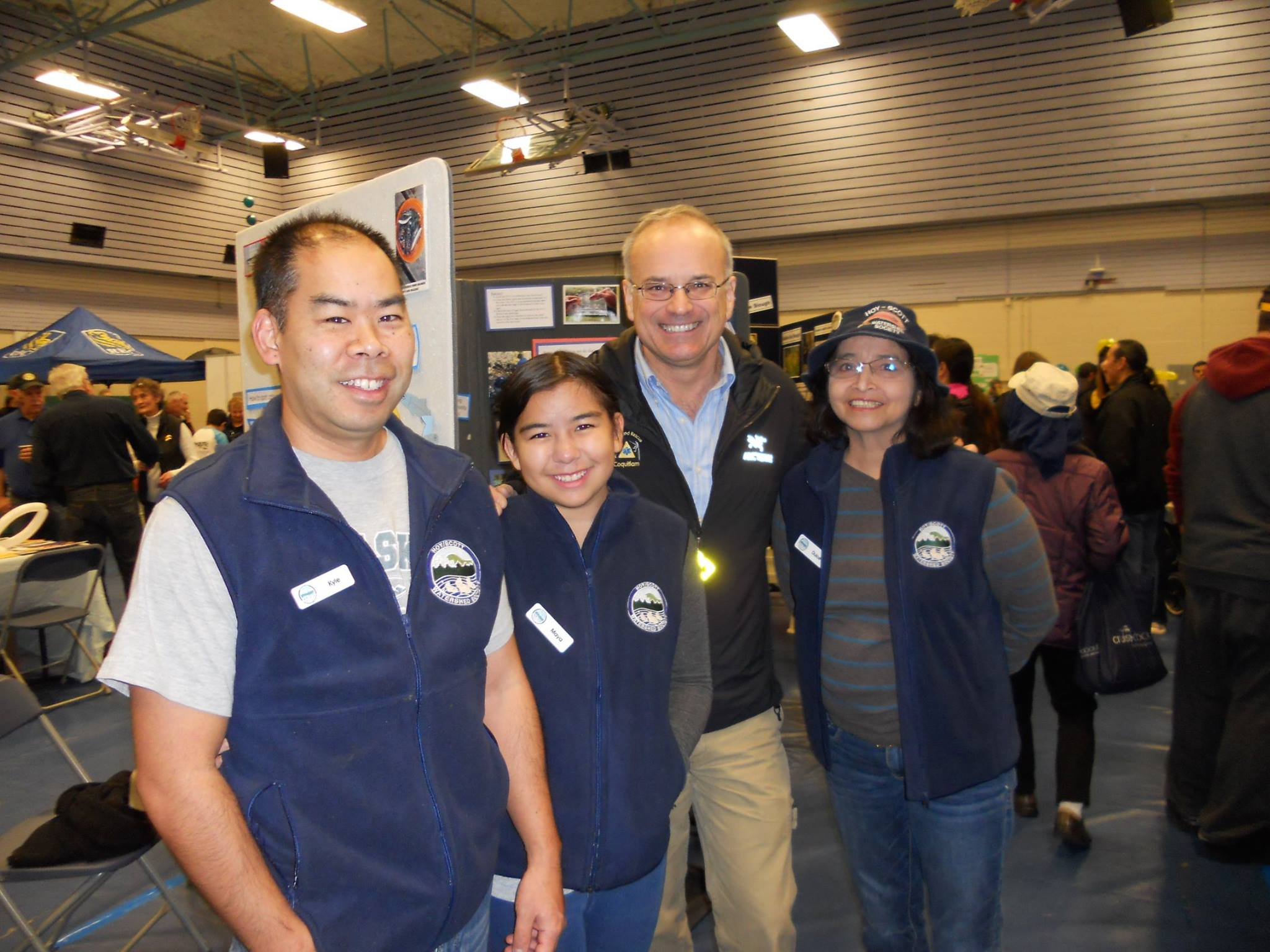 Left to right: Kyle, Mia, Coquitlam mayor Richard Stewart, and Dulce