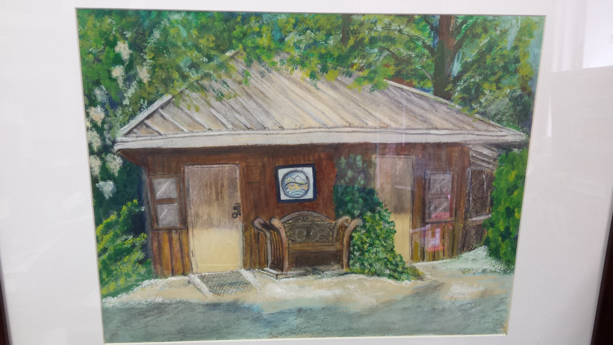 A painting by Patricia Gaspar of the Hoy Creek Hatchery adorns our office wall.