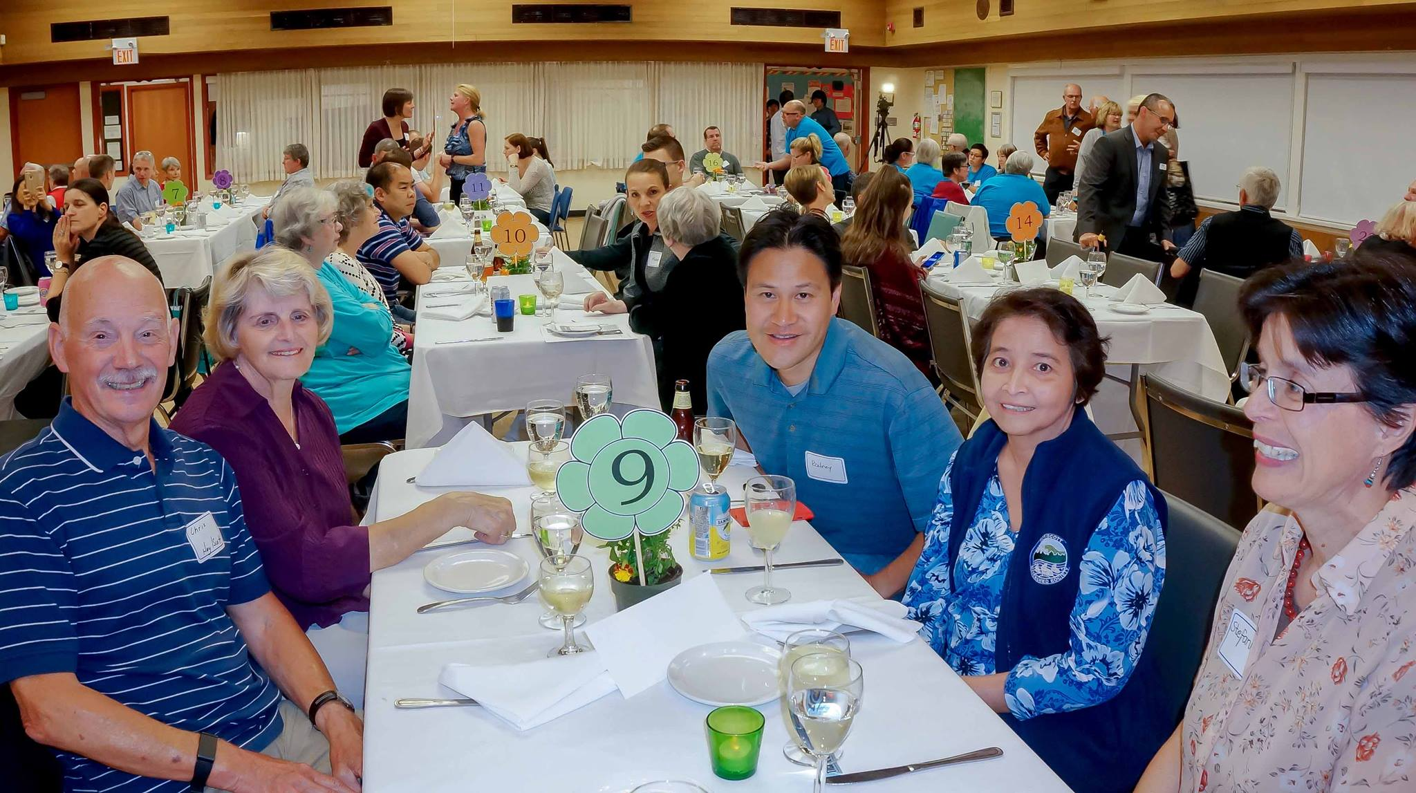 The two Hoy-Scott Watershed Society tables 9 and 10. (Photo: Ed Paulino / HSWS)