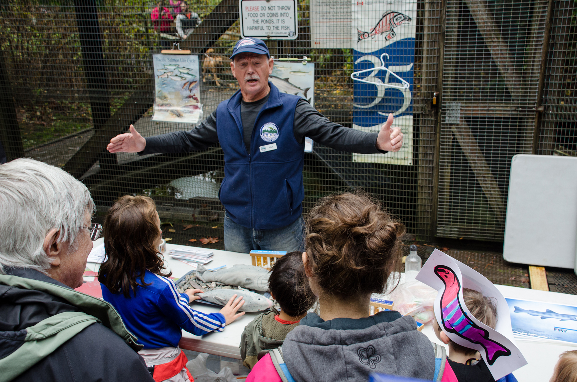 Salmon educator and HSWS founding member, Chris Hamming. (City of Coquitlam photo)
