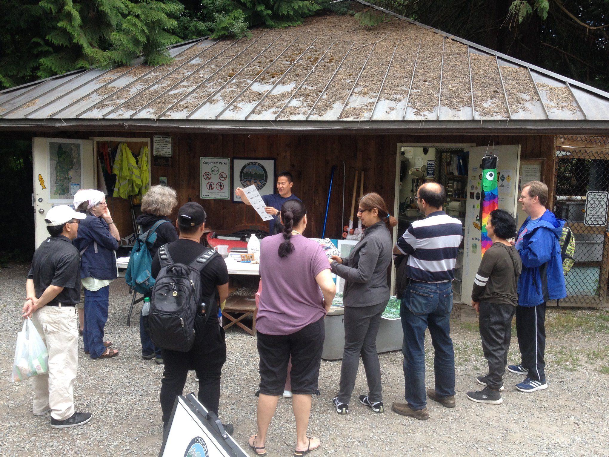 Tour at Hoy Creek Hatchery on Hoy Trail, Coquitlam.