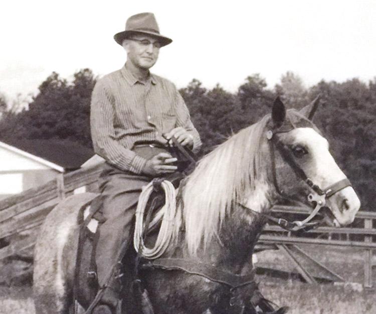 Ruben J. Fisher on his farm.