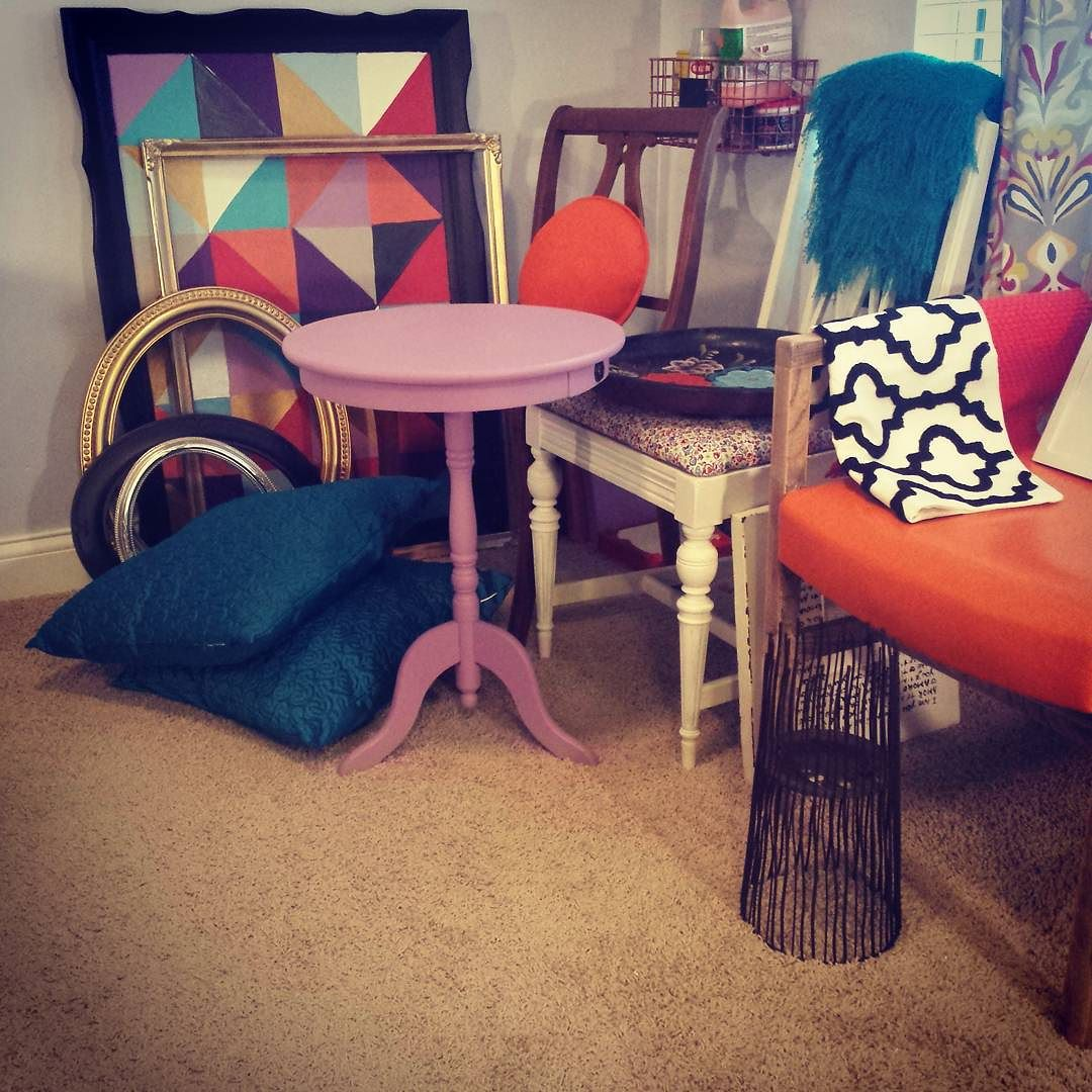 """A collection of thrifted items once """"left at the curb"""" and transformed into modern,chic pieces that together create a beautiful space......"""