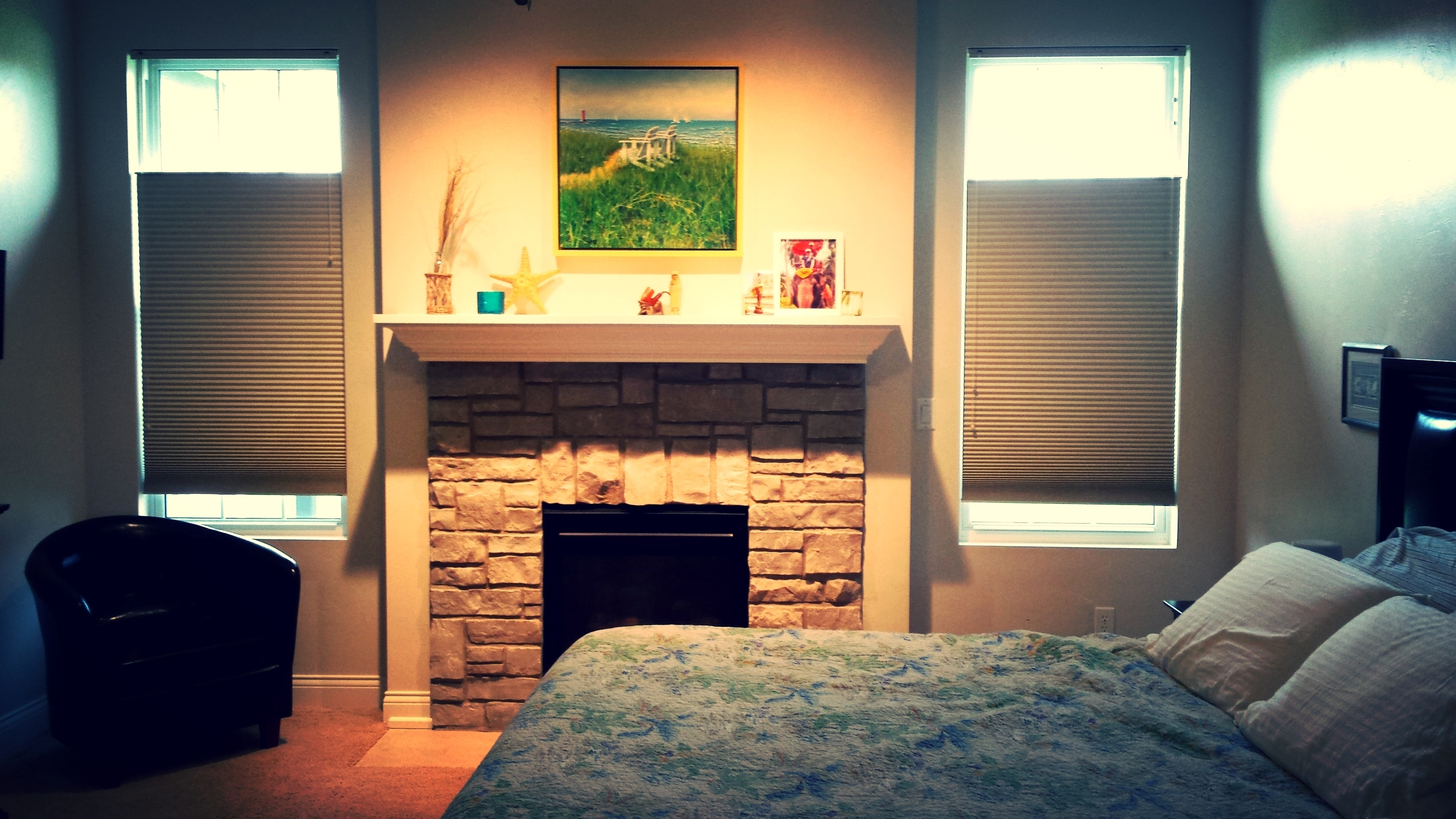 I could get used to having a fireplace in my bedroom. How about you?