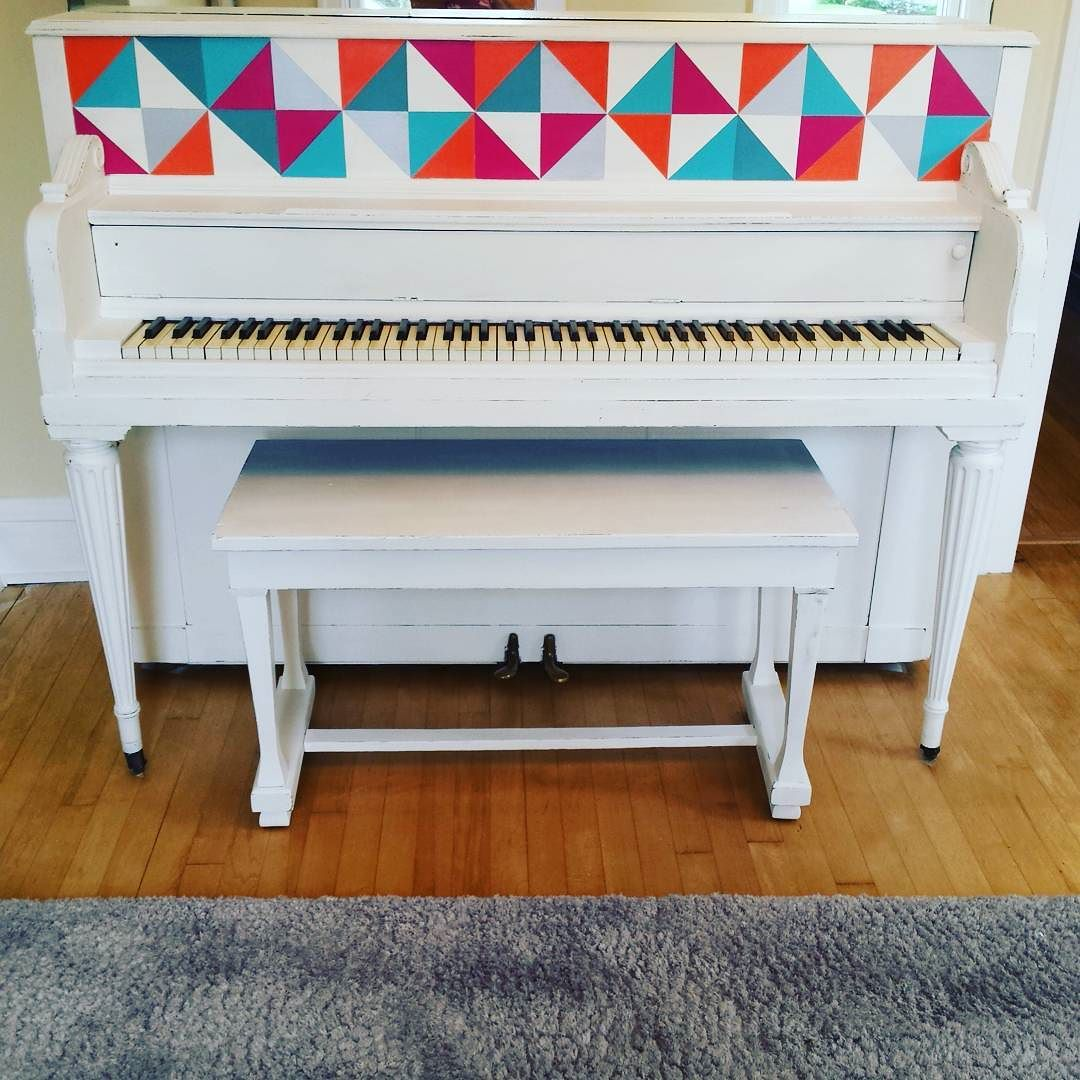"""Thank you, Kate!  I absolutely love it!""  -Kate M.  See full blog post:   Painted Piano: A true Story"
