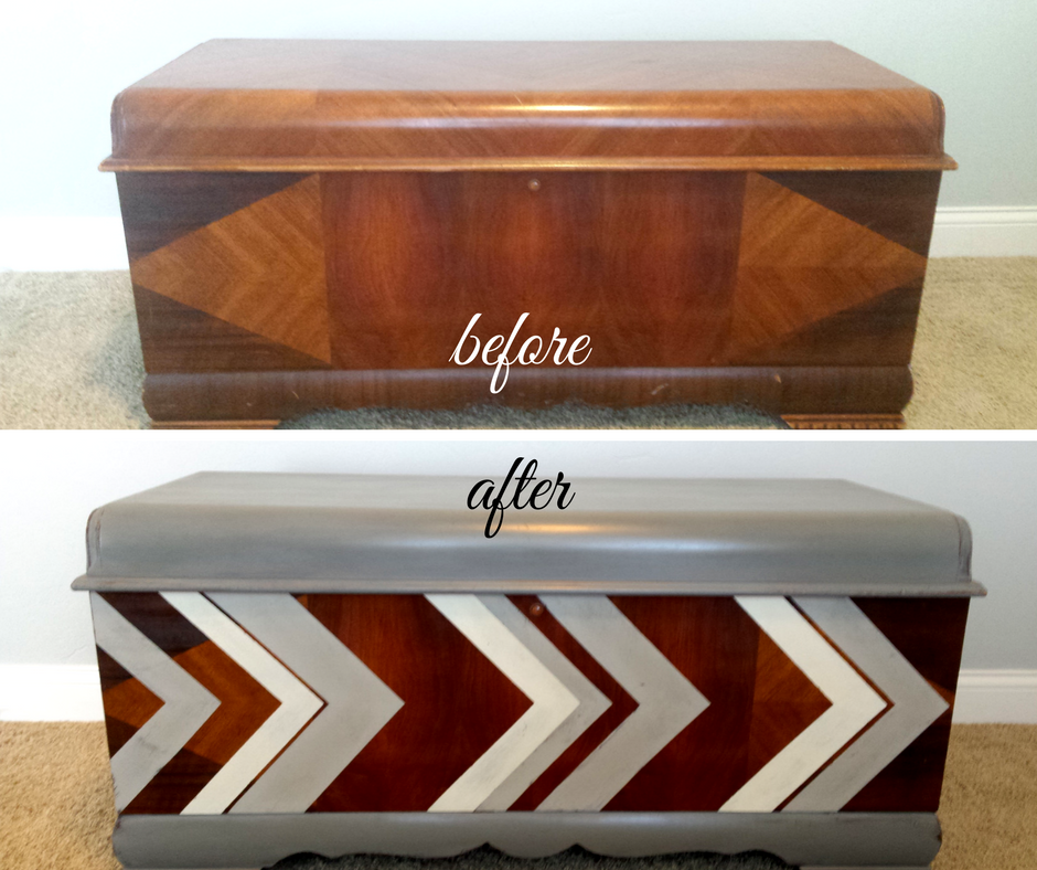 See the heartwarming story here:   Distressed Chevron Cedar Chest